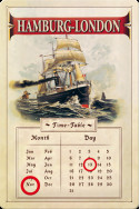 Метален вечен календар Hamburg-London