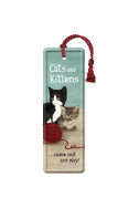 Метален книгоразделител Cats and Kittens