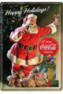 Метална картичка Happy Holidays! Coca-Cola