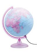 Глобус Розов свят - светещ, 25 см