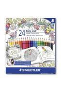 Цветни моливи Staedler Johanna Basford - 24 цв.