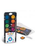 Акварелни бои Primo с вадещи се 12 цвята
