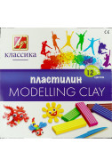 Пластилин Класика Луч - 12 цвята
