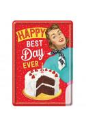 Метална картичка Happy best Day ever