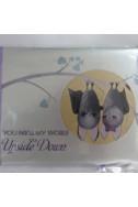 Луксозна картичка - You turn my world upside down