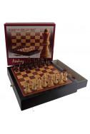 Дървен комплект за шах и дама
