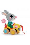 Играчка за дърпане зайчето Роли