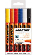 Molotow One4All Acrylic Marker - 127Hs 2Mm - Basic Set 1 - 6 Colours