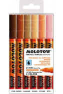 Molotow One4All Acrylic Marker - 127Hs 2Mm - Character Set - 6 Colours