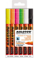 Molotow One4All Acrylic Marker - 127Hs - Neon Set - 6 Colours