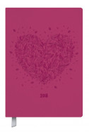 Календар бележник Pink Heart 2018