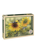 Sunflowers and Goldfinches - 1000