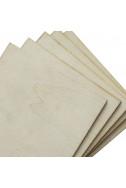 Плоча от шперплат - 2.8 мм, 15 х 15 см, комплект 4+1 бр.