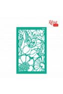 Самозалепващ шаблон Rosa 13 х 20 см №1001 Background Flowers