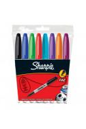Комплект перманенти маркери Sharpie, F - 8 цвята