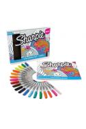 Комплект Sharpie - 21 броя маркери + книжка