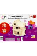 Дървен 3D пъзел: Къща на мечтите - 33 части