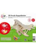 Дървен 3D пъзел: Самолет - 25 части
