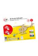 Дървен 3D пъзел: Хеликоптер - 32 части