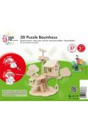 Дървен 3D пъзел: Къща на дърво - 37 части
