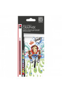 Акварелни моливи Graphix - 12 цвята