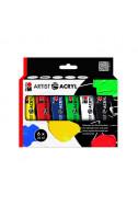 Комплект акрилни бои Artist Acryl - 6 цвята