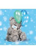 Картичка за Рожден ден с балони