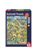 Пъзел Illustrated Map Of Germany - 1000