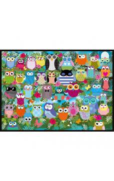Пъзел Collage of Owls II - 1000