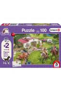 Пъзел Horse Ride into the Countryside - 100 (+ 2 бр. фигурки)