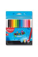 Флумастери Maped Colorpeps Океан - 12 цвята