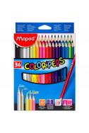 Цветни моливи Maped Color' Peps - 36 цвята