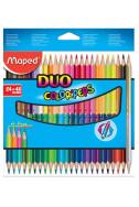 Цветни моливи Maped Color'Peps Duo, 24 бр., 48 цвята