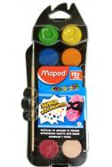 Водни бои Maped, 12 цвята