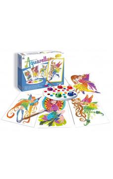 Комплект за оцветяване с акварелни бои - Нимфи