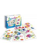 Комплект за оцветяване с акварелни бои - Аквариум