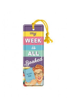 Метален книгоразделител My week is all booked