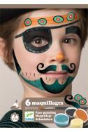 Комплект бои за лице и стикери Djeco - Пирати