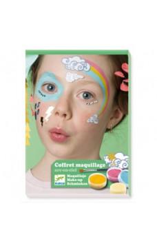 Комплект бои за лице и стикери Djeco - Цветна дъга