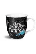 Чаша с послание Don't worry be happy
