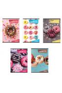 Тетрадка A5 Donuts - широки редове