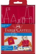 Детска престилка Faber-Castell - розова