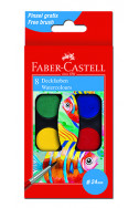 Акварелни бои Faber-Castell, 8 цвята
