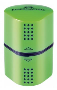 Тройна острилка Faber-Castell Grip 2001 - св. зелена