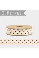 Панделка Dots Cream - 3 м
