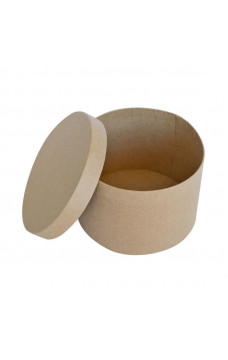 Кутия - обла, papier-mache, 14.6 х 10 см