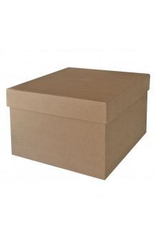 Кутия от papier-mache - квадрат, 26.5 х 17 см