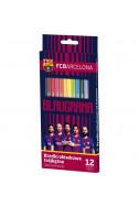 Цветни моливи FC Barcelona - 12 цвята