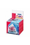 Fimo аксесоари - Снежен глобус, кръгъл